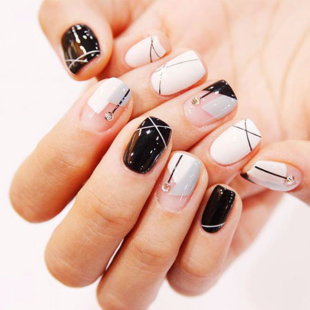 Korean Nail, Nail, Manicure, Short, Long, Korean, Design