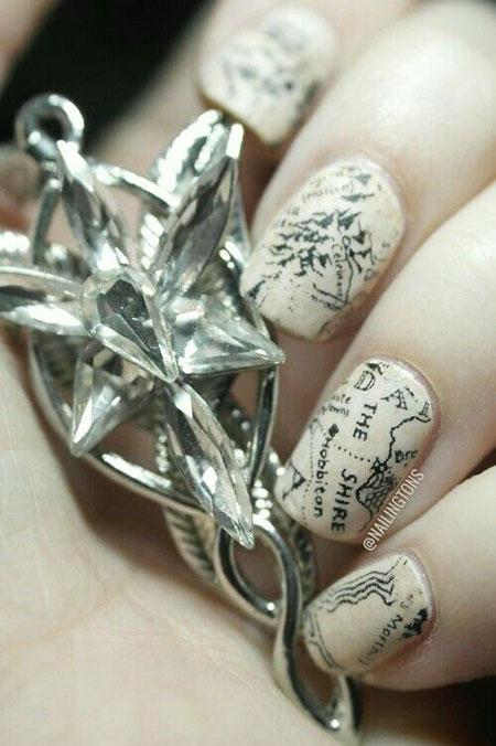Hobbit Nail, Nail, Newspaper, Art, Polish, Hobbit