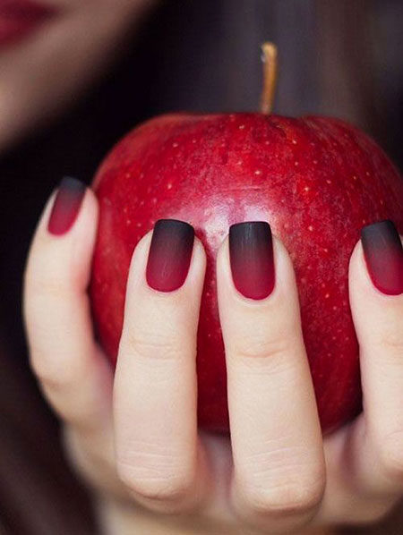 Red And Black, Nail, Fall, Design, Art, Shades, Orange, Ombre