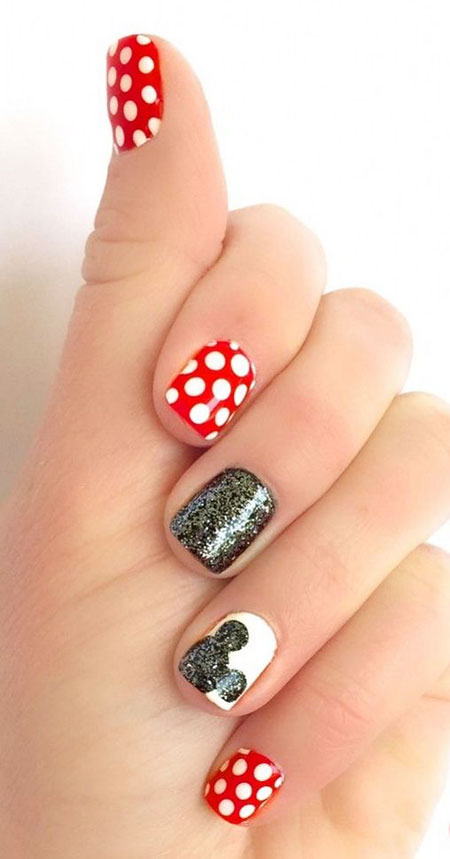 Mickey Mouse Nail, Nail, Minnie, Disney, Mouse, Themed, Small