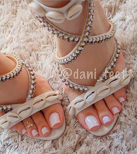 Pretty Nail, Toe, Shoes, Sandals, Sandalias, Pretty