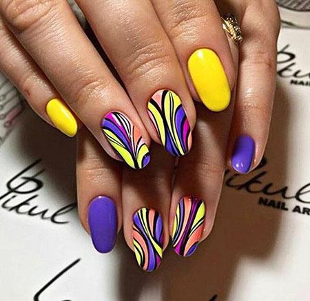 Autumn Nail Design 207, Nail, Simple, Art, Purple, Design