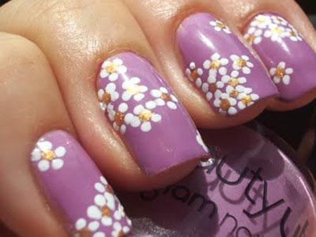 Flower Nail Art, Nail, Art, Spring, Flower, Design, Daisy