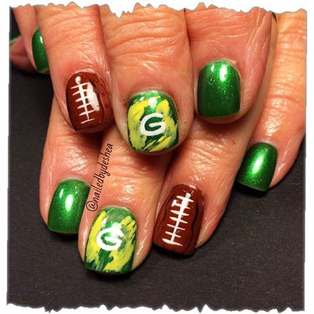 Green Nail, Nail, Halloween, Green, Frankenstein, Art