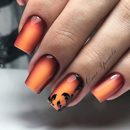 Ombre Nail, Nail, Manicure, Design, Art, Ombre, Gel, Fall