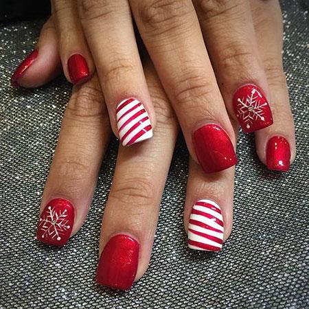 Christmas Nail, Nail, Christmas, Art, Gel, Design