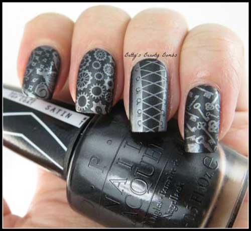 Steampunk Nail Designs-14
