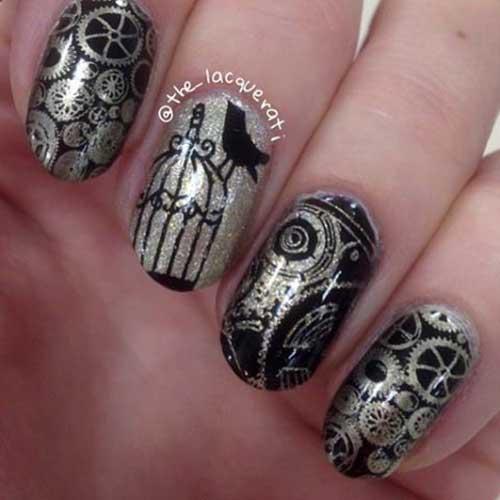 Steampunk Nail Designs-8
