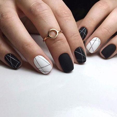 Black Nail Design, Manicure Black But Color