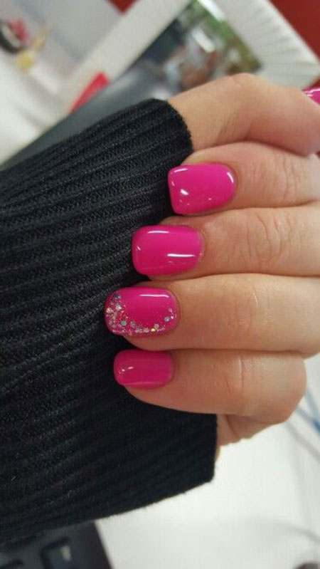 Pink Nail Design, Pink Hot Gel Little