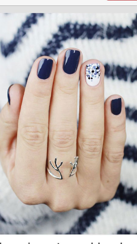 Simple Nail Art Design, Winter Manicure 2017 Cute