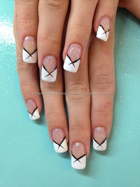 White Nail Design, Manicure French Long Kinds