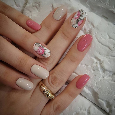 Rose Pink Manicure Flower