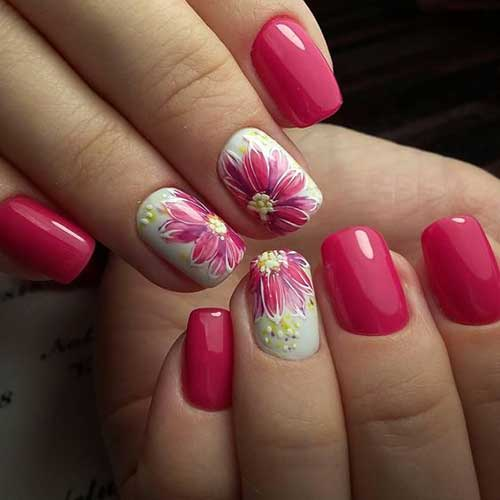 Vivid Colored Nail Arts-10