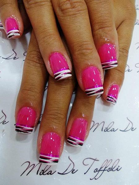 Pink Zebra Black Acrylic