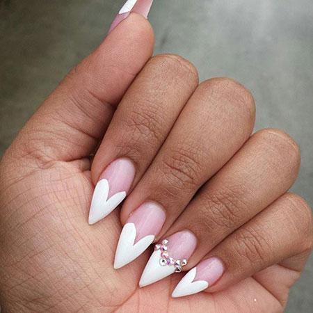 11valentine'sdaystilettonails355  nail art designs 2020
