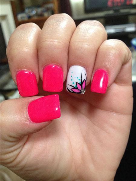 Pink Flower Hot Valentines