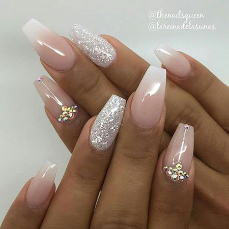 Simple Wedding Glitter Acrylic