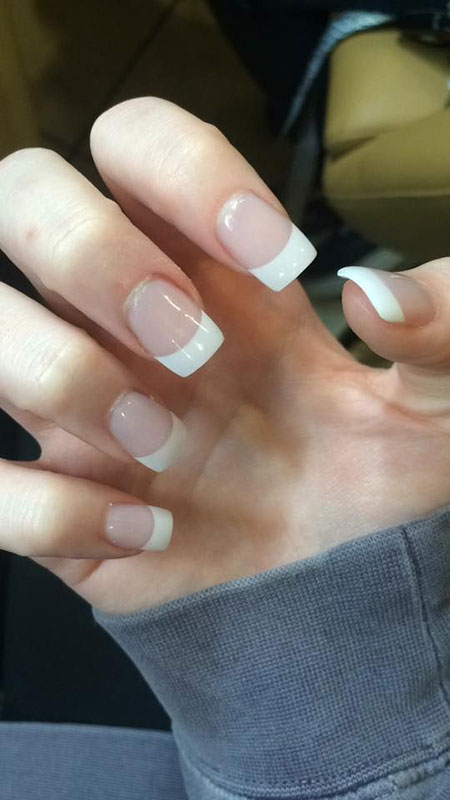 Acrylic French White Manicure