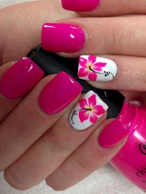 Vivid Colored Nail Arts-13