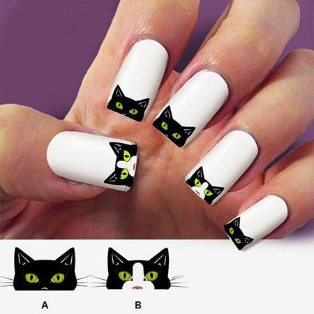 Halloween Cat Water Black