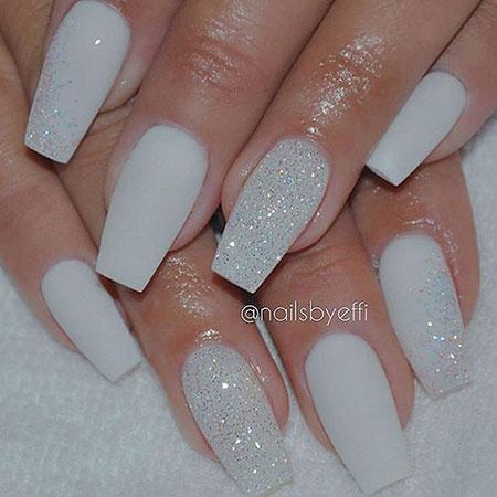 Glitter Matte White Nice