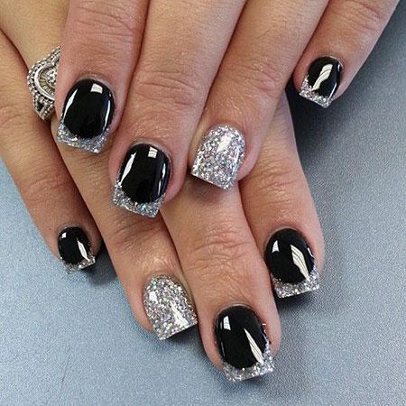 Silver Black Ideas Glitter