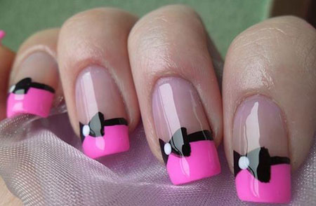 Bow Pink Black Love