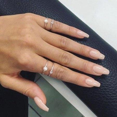 Nude Gel Ring Acrylic