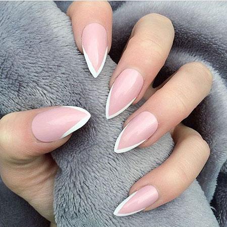 15pinkandwhitestilettonails185  nail art designs 2020