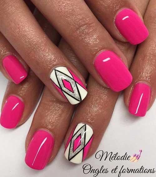 Vivid Colored Nail Arts-15