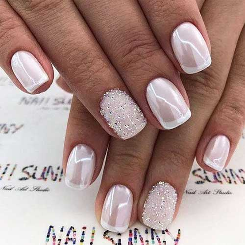 2018 Wedding Nail Designs-16
