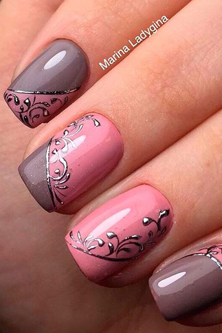 Pink Summer Manicure Very