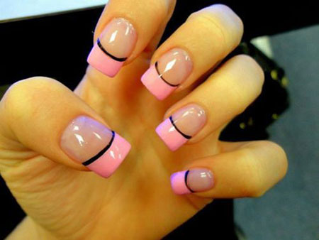 French Pink Manicure Black