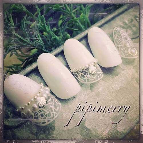 2018 Wedding Nail Designs-18