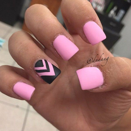20 Pink And Black Nail Designs