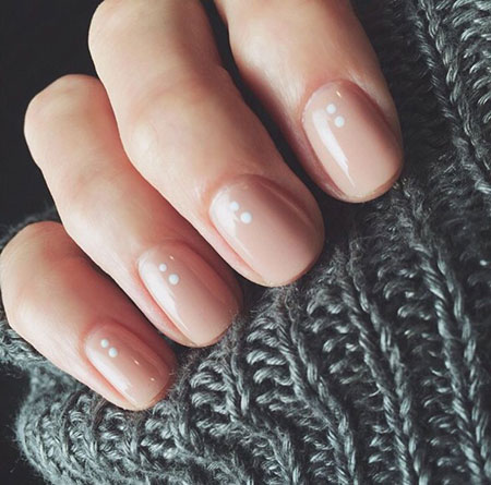 Short Natural Gel Nails, Manicure Simple Gel 3D