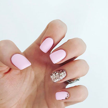 Pink Gold Glitter Rose