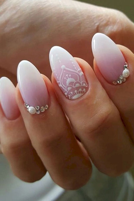21 Wedding Nails For Bride 2018 400 Nail Art Designs 2017