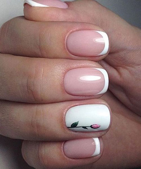 Amazing French Manicure, Manicure White Little Awesome
