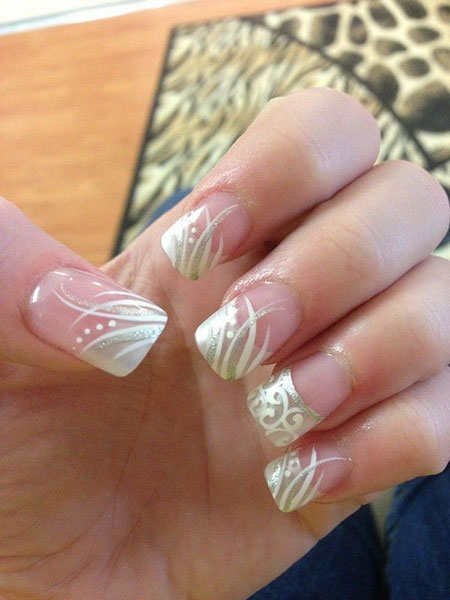 Nail Art for Brides, Wedding French Manicure Toes