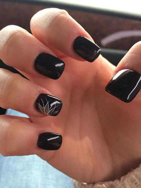 Acrylic Black Nail Design, Black 2017 Nice Acrylic
