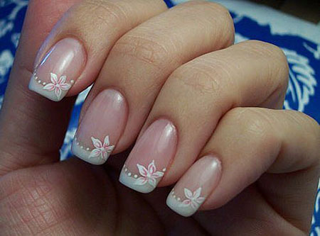 Flower Nail Design for Wedding, Wedding Manicure Big Day