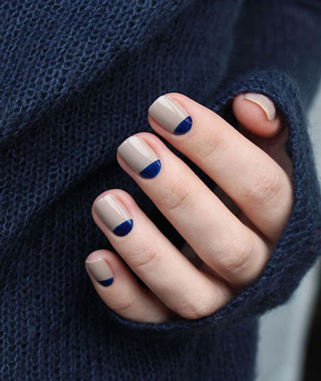 Simple and Chic Nail Art, Manicure Blue Moon Fall