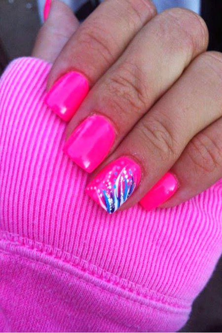 Pink Years Painted Manicure