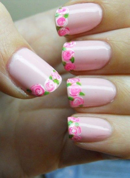 Pretty Flowers Manicure Pink