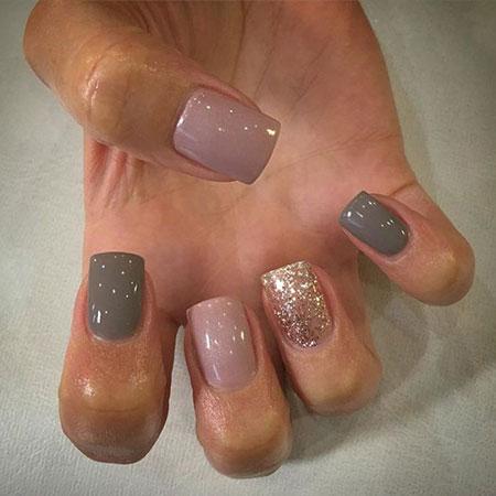 Gel Manicure Grey Pink