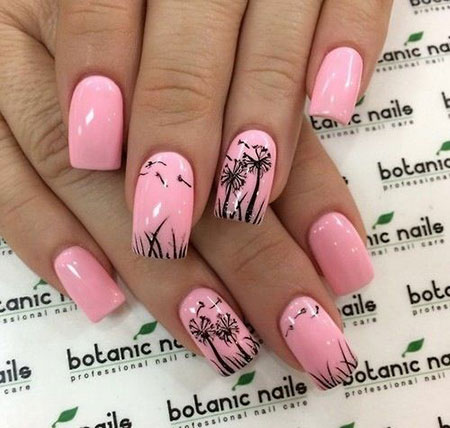 Pink Manicure Black Inspired