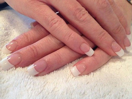 White Acrylic Gel French
