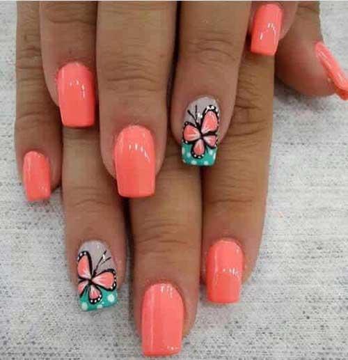 Vivid Colored Nail Arts